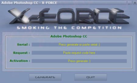 Ключ для Adobe Photoshop CC 14