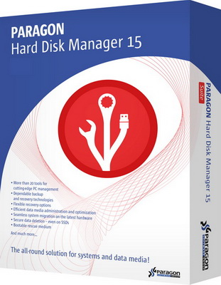 Ключ Paragon Hard Disk Manager 15 Professional